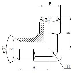 BSP Hidravlični adapterji Risba