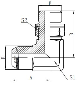 BSP O-ring nastavljiv vijak
