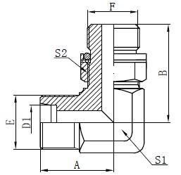 Kolenski hidravlični adapterji Risba