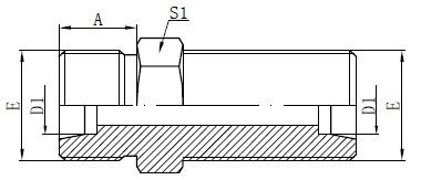 Risba metričnih pregradnih priključkov